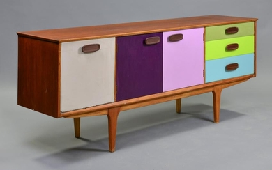 Mid Century Modern Sideboard - Painted Front - Jentique