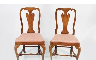 PAIR OF GEORGE I PERIOD WALNUT CHAIRS