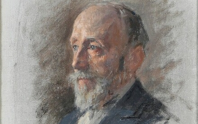 Portrait of Jules Claretie 1907 Oil on canvas signed and...
