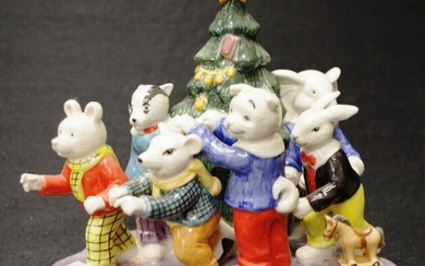Royal Doulton 'Christmas with Rupert' figure limited edition 350/450,...