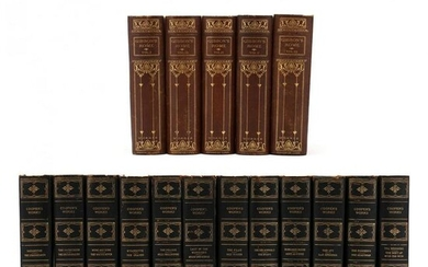 Two Partial Edition DeLuxe Letherbound Book Sets