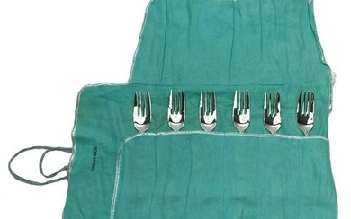 12 Tiffany Sterling Silver Pastry Forks in