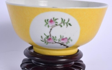 A CHINESE FAMILLE ROSE SCRAFITO PORCELAIN BOWL 20th Century,...