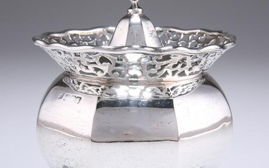 AN EDWARDIAN SILVER CADDY, by George Nathan &