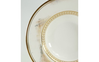 A collection of Minton Alabaster and Gold dinnerware: Includ...