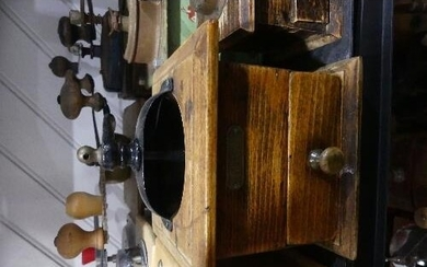 A collection of Vintage and Retro Coffee Grinders, including...
