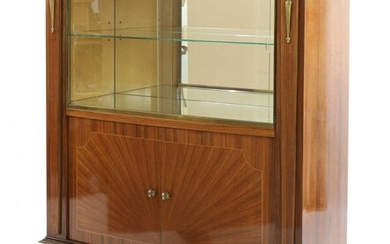 An Art Deco rosewood cocktail cabinet