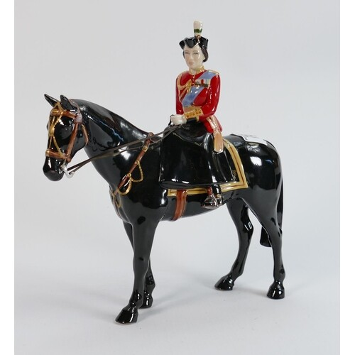 Beswick HM Queen Elizabeth on Burmese: trooping the colour, ...