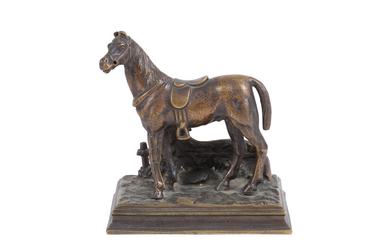 Bronze sculpture, 'HORSE'. Early 20th century