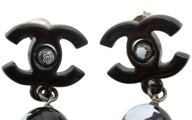 Chanel Autumn 2012 Chanel Black Resin Earrings with