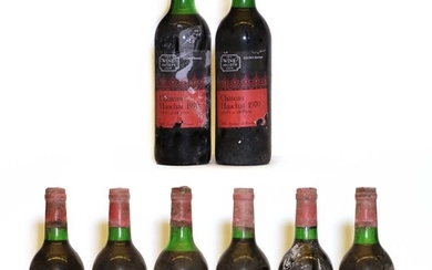 Chateau Hauchat, Fronsac, 1970, eight bottles
