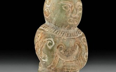 Chinese Qing Dynasty Nephrite Standing Figure