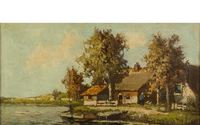 FRENCH SCHOOL (late 19th Century) OIL ON CANVAS Barbizon S...