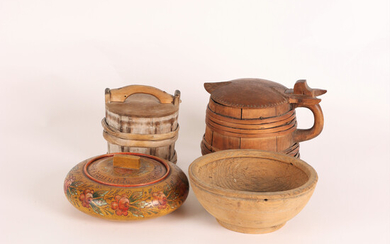 Folklore objects 4 pcs 19th century Sweden.