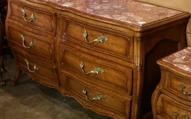 French Louis XV style dresser, of bombe form with