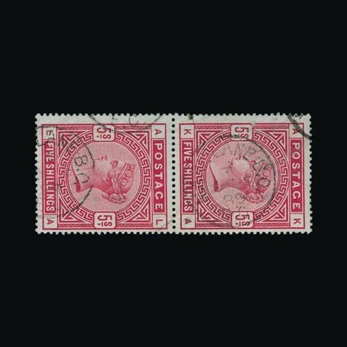 Great Britain - QV (surface printed) : (SG 176) 1883-84 blue...