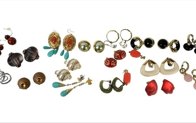 Group of 18 Pairs of Costume Jewelry Earrings, to