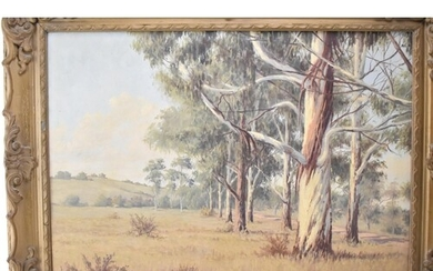 Guiseppe Catly (1914-1944) South African landscape with gum ...