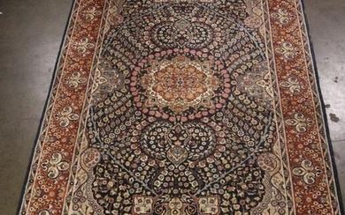 HAND KNOTTED PERSIAN BLUE RUG