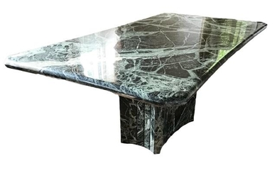 Impressive Custom Made Green Marble Dining Table