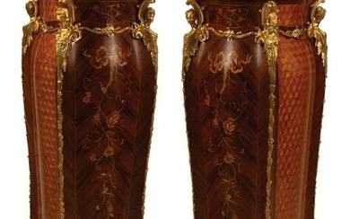 Kingwood Parquetry, Marquetry Pedestals