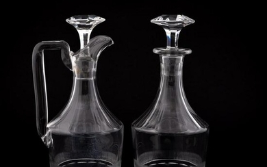 L. 19TH C. ENGLISH, GROUP 2 CUT CRYSTAL DECANTERS