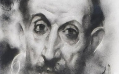 """Large Black and White Portrait of """"El Greco"""""""