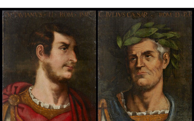 * Late 17th century school Portrait of Ottaviano and Portrait of Giulio Cesare Pair of paintings, oil on canvas, 65x50…Read more