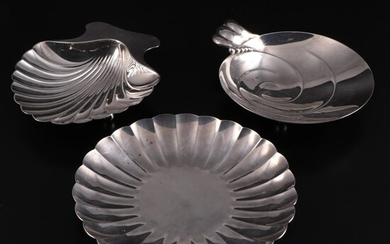 Tiffany & Co. and Other Sterling Silver Bonbon Bowls and Dish
