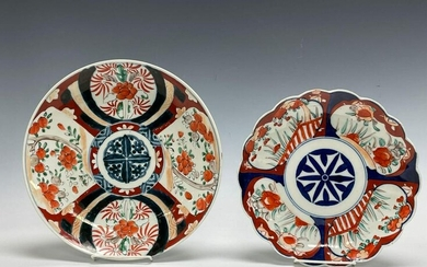 Two (2) Japanese Imari Porcelain Chargers / Plates