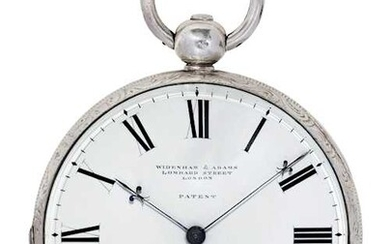 Widenham & Adams - London, early over-sized and very rare pocket watch with split second, ca. 1825.