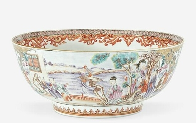 A Chinese export famille rose-decorated bowl
