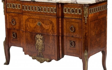 A French Régence-Style Inlaid Chest of Drawers