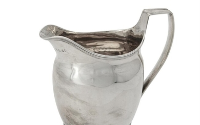 A George III silver oval cream jug by Robert, David and Samuel Hennell