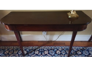 A Georgian Mahogany Side table with tapered supports. W134 x...