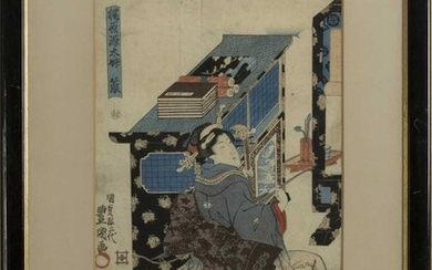 A LATE 19TH/EARLY 20TH CENTURY JAPANESE WOODBLOCK PRINT