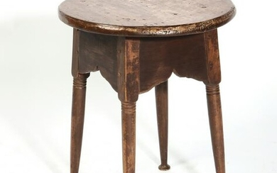 A Queen Anne style maple and pine low table