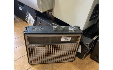 A Sharp portable radio, and various other audio equipment (q...