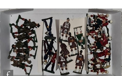 A collection of assorted toy soldiers, including twenty eigh...