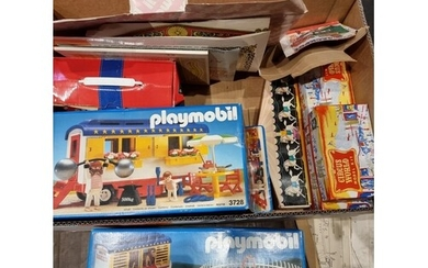 A collection of games and toys to include- Playmobil 3728,37...