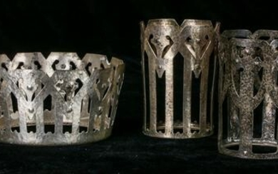 A (lot of 6) Shreve & Co. Dolores? reticulated sterling