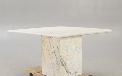 A marble dining table around 2000