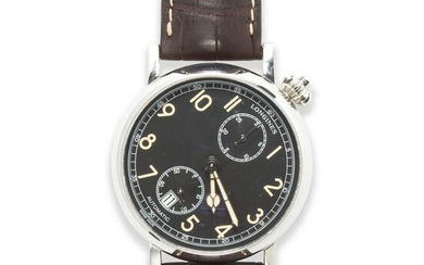 A stainless steel wristwatch, Avigation Type A-7 1935
