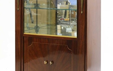 An Art Deco rosewood display cabinet