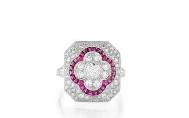 Bague diamants et rubis | Diamond and ruby ring
