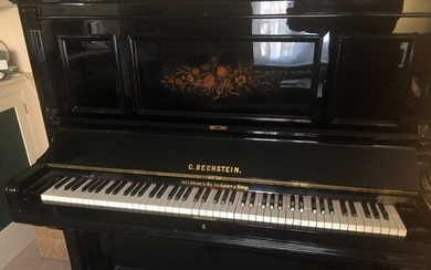 Bechstein (c1900) An overstrung upright piano in a re-polish...