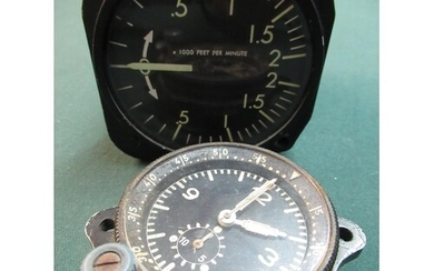 Circa WWII period fighter planes cockpit dial clock serial n...