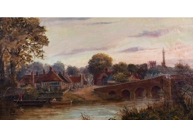 Circle of Henry Maidment (act.1889-1914) British. Sonning on...