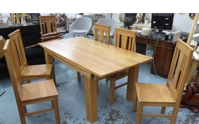 DINING SET, contemporary design, includes table and six chai...
