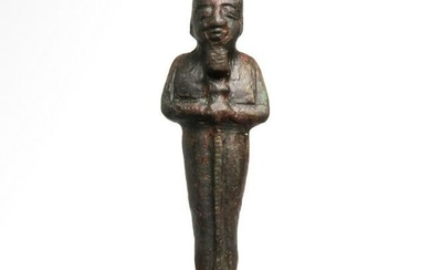 Egyptian Bronze Figure of Ptah, 22nd Dynasty, c. 800